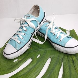 Converse Teal and White Lace Up  Sneaker Size 7